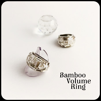 Bamboo Volume Ring by Sourirefranc 12,000円(税別)